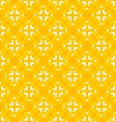 Seamless texture with white and yellow patterns vector