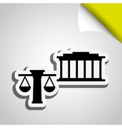 Justice flat icon design vector