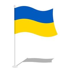Ukraine flag official national mark of ukrainian vector