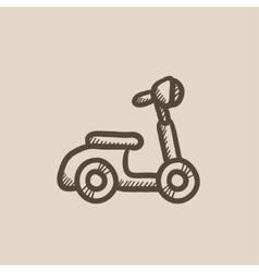 Scooter sketch icon vector