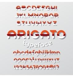 Arigato color typeface vector