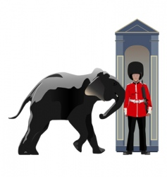 buckingham guard vector image vector image