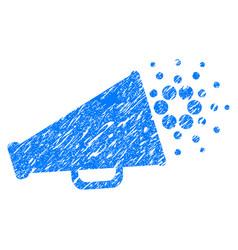 Cardano megaphone icon grunge watermark vector