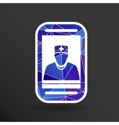 Cartoon phone doctor character vector