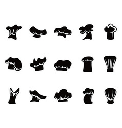 chef hats icon set vector image