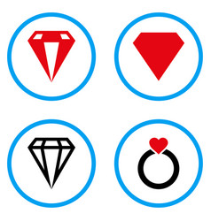 Diamond rounded icons vector