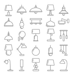 different modern lamps in vector image vector image