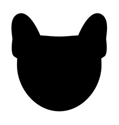 Dog head the black color icon vector