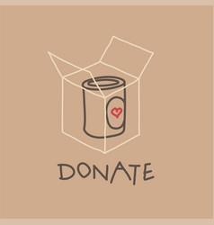 Food drive charity movement vector