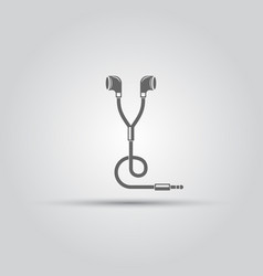 headphones isolated icon vector image