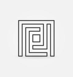 maze simple icon vector image vector image