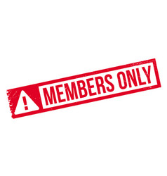 members only rubber stamp vector image vector image