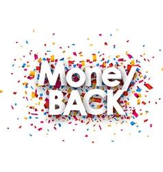 Money back sign vector