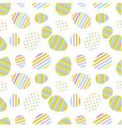 pastel seamless pattern with easter eggs vector image