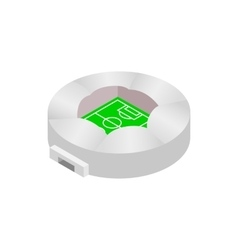 Round stadium with canopi icon vector image vector image