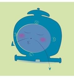 Sleeping cartoon alarm clock vector