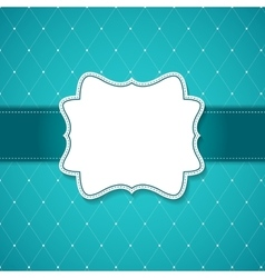 Vintage background with Frame Retro vector image vector image