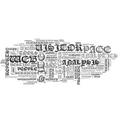 Web site analysis text word cloud concept vector