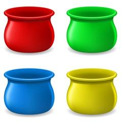 Empty color Pots vector image