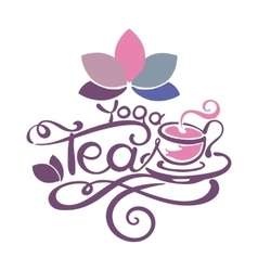 Lettering - yoga tea vector