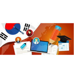 South korea education school university concept vector