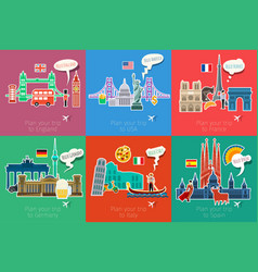 Concept of travel or studying languages vector