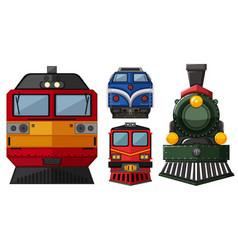 Different head of locomotive vector