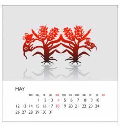 2008 calendar may vector