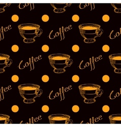 Coffee cup seamless background vector image
