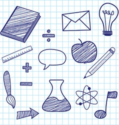 Education sketches vector