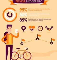 Bicycle infographic vector