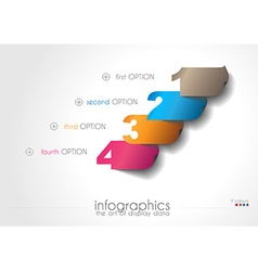 Infographic templated with paper numbers vector