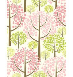 spring forest - seamless pattern vector image