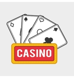 Casino design game and las vegas vector