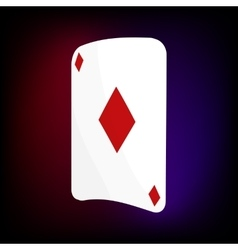 Ace of diamonds card icon cartoon style vector