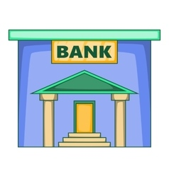 Bank icon cartoon style vector image