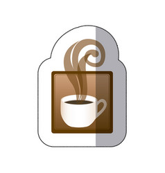 brown squard symbol of coffee cup vector image vector image