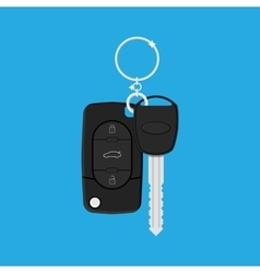 Car Key with alarm and chain vector image vector image