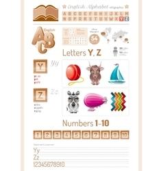 cartoon table English vector image