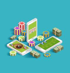 casino electronic gambling composition vector image