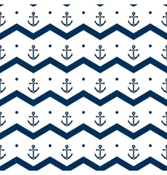 Chevron with anchors in blue and white seamless vector