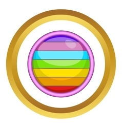 Circle in colours of lgbt icon vector