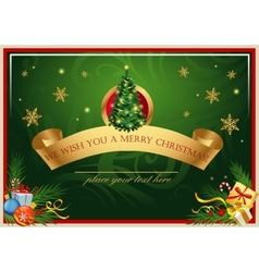 Classic christmas card vector