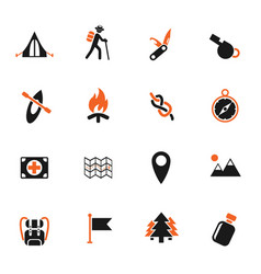 day of skouts icon set vector image