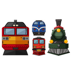 Different head of locomotive vector