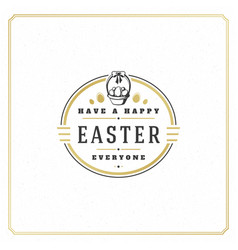 easter greeting card text template and badge vector image vector image