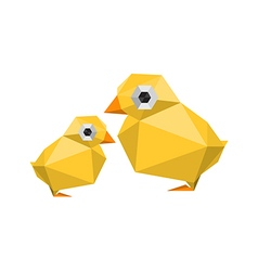funny modern origami chickens vector image