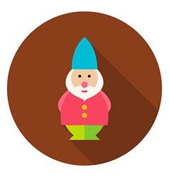 Garden gnome circle icon vector