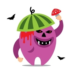 Halloween monster cartoon vector