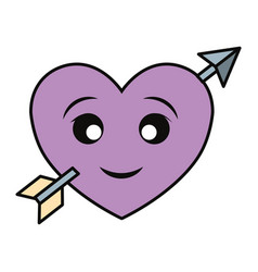 hearts and love cartoon vector image